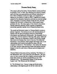 thomas hardy essay gcse english marked by teachers com page 1 zoom in