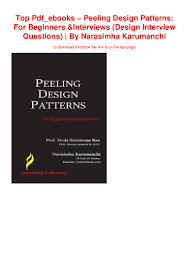 Peeling Design Patterns For Beginners And Interviews Pdf Free Download Top Pdf_ebooks Peeling Design Patterns For Beginners