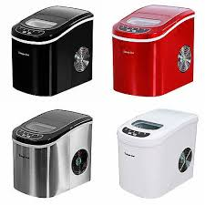 magic chef countertop ice maker portable stainless steel red black white
