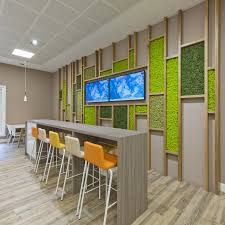 office cafeteria design. Nordik Moss Wall Art Can Be Used To Create Superb Interior Design Features As Seen In This Break-out Area For A Glasgow Healthcare Company Office Cafeteria