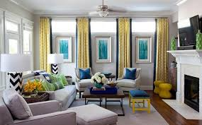 Trendy Color Combinations For Modern Interior Design In Blue And Yellow Best Blue Color Living Room
