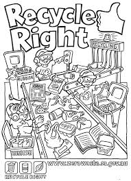 Small Picture Recycling Coloring Pages For Kids AZ Coloring Pages Fun