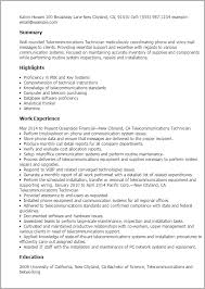Technician Resume Template Best Design Tips Professional Resume