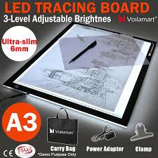 Light Box Drawing Tracing Voilamart A3 Led Light Box Tracing Board Art Design Stencil Drawing Thin Pad Copy Lightbox