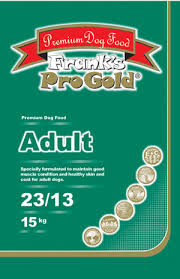 <b>Frank's Pro Gold Adult Dog</b> pet food.