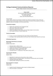 Examples College Graduate Resumes Examples Of Resumes High School