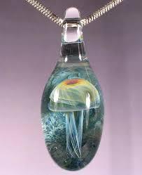modern blown glass pendant hand light australium danielmetcalf co jellyfish necklace peace jewelry kitchen uk for hemp with ash blue fixture shade