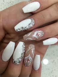 Nail Art Designs On White Nails White Elegance Nails Art Nail Designs Manicure Nail Art