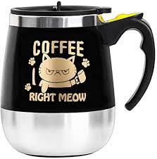 This makes the entire stirring much better. Amazon Com Bine Self Stirring Mug Auto Self Mixing Stainless Steel Cup For Coffee Tea Hot Chocolate Milk Mug For Office Kitchen Travel Home 450ml 14oz Kitchen Dining