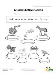 Verb Action Animal Action Verbs Worksheet All Kids Network