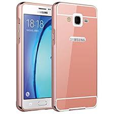 samsung 0n5. samsung galaxy on5 case, nicelin aluminum metal frame and acrylic plastics mirror plane cover case 0n5
