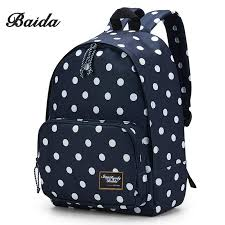 Polka dotted teen backpacks and accessories
