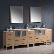 Light Oak Bathroom Furniture Fresca Torino 96 Light Oak Modern Double Sink Bathroom Vanity