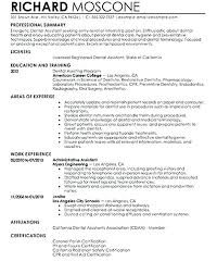 Resume Biography Sample Professional Summary Dental Assistant With ...