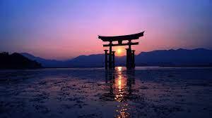 sunset #Sun #evening #purple #torii ...