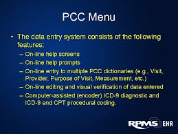 Pcc Charting System Patient Care Component Pcc Data Entry Coding