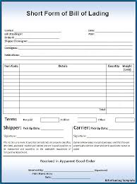 Short Form Bill Of Lading Template Blank Bill Of Lading Short Form 360
