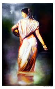 indian woman wet latest best painting art work