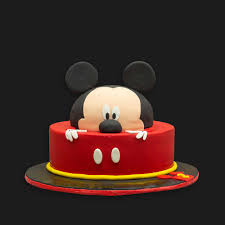 mickey mouse cake black brown bakers