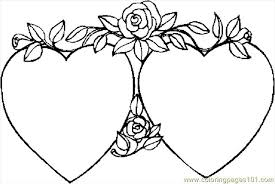 Small Picture Printable Heart Coloring Pages Syougitcom