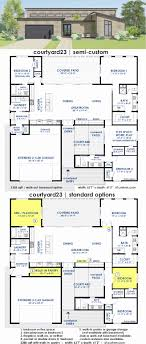house plans not open concept new courtyard23 semi custom home plan