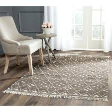 kilim rug 8x10 hand woven natural brown ivory wool rugs