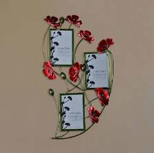 modern home decoration metal wall art hand made red popy flower photo frame as wall decor on metal wall art picture frames with modern home decoration metal wall art hand made red popy flower