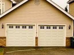 garage door panels paneled windows glass beige