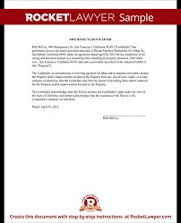 Lien Release Form Awesome Mechanics Lien Release Lien Waiver Form Rocket Lawyer