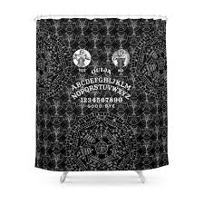 ouija shower curtain waterproof polyester fabric bathroom decor multi size printed shower curtain with 12