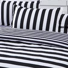 white and black bed sheets. Interesting White Collectie Gestreepte Beddengoed Wit En Zwart Dekbedovertrek Super  Zachte Gedrukt Set 3 Stks Of 4 In White And Black Bed Sheets B