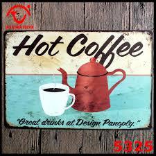 Metal Kitchen Wall Art Decor Aliexpresscom Buy Hot Coffee Metal Wall Hanging Metal Wall