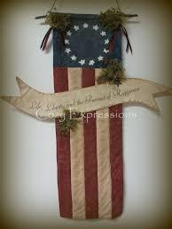 primitive wall decor rustic american flag