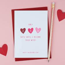 Days Until Were Married Valentines Card