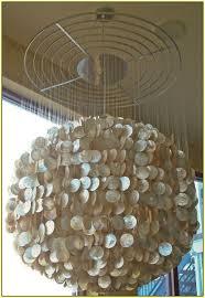 large capiz shell chandelier home in design 17
