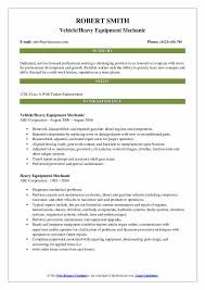 heavy equipment mechanic resume sles