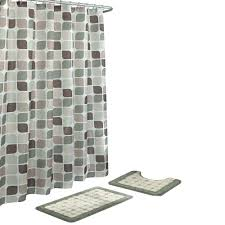 bath fusion zaragoza sage berber 15 piece bath rug and shower curtain set