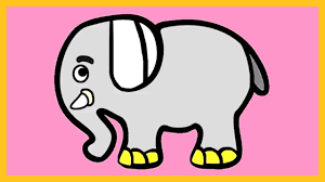 elephant color. Interesting Elephant Learn Colors With Elephant Coloring Tutorial  How To Color An  Silly Kids In Elephant L