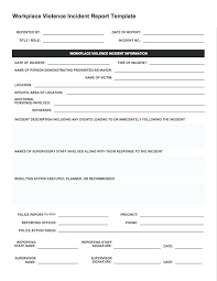 Car Accident Report Template Of Police Incident Awesome