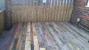 Decking Using Pallets How To Make A Deck From Pallets Youtube