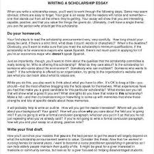 Example Of Scholarship Essay 10 Scholarship Essay Examples Samples Pdf For