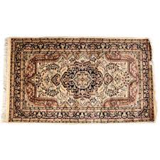 blue white 3 5 persian hand knotted wool rug