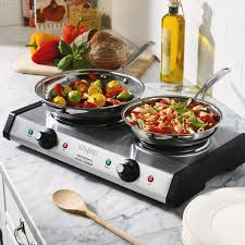 waring wdb600 double burner solid top countertop range 1800w image preview main picture