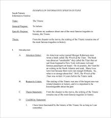 Speech Outline Format Speech Outline Format Template Business
