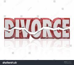 Divorce Word Red 3d Letters Illustrate Stock Illustration