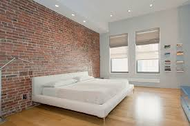 bedroom decoration idea. view in gallery exposed brick wall idea for a stylish minimal bedroom decoration