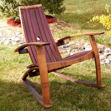 wine barrel rocking chair plans pictures to pin on with whiskey adirondack and 34235