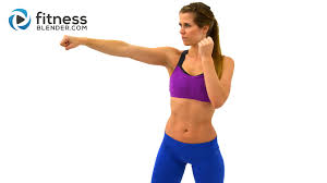 cardio kickboxing workout to burn fat at home kickboxing cardio interval workout fitness blender