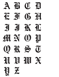 Old English Font Calligraphy Alphabet Tattoo Fonts