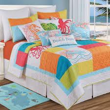 Tropic Escape Bright Coastal Beach Quilt Bedding &  Adamdwight.com